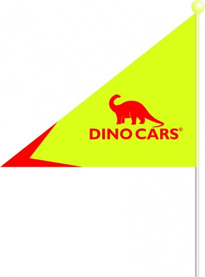 Dino Cars Veiligheidsvlag 1,80 m Geel