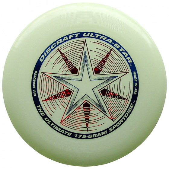 Discraft Ultra Star Nite Glo 27,5 cm 175 gram wit