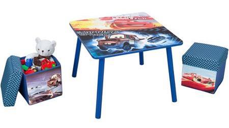 Disney Cars Tafel en Poefen set blauw