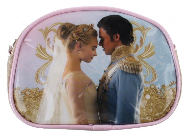 Disney Assepoester beautycase blauw/roze 17 x 12,5 x 5 cm