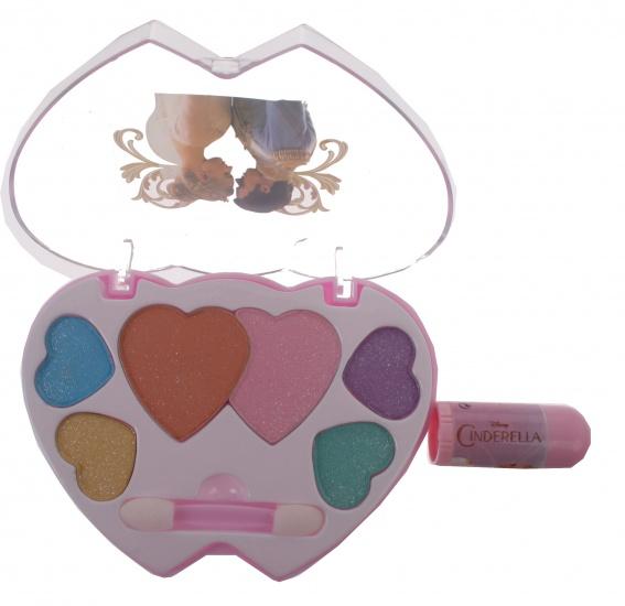 Disney Assepoester cosmetica set 7 delig blauw/roze