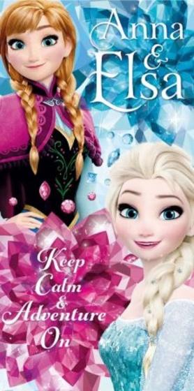 Disney badlaken Frozen 140 x 70 cm blauw/roze