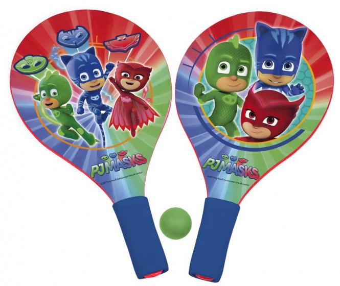 Disney beachballset PJ Masks junior hout blauw/rood 3 delig