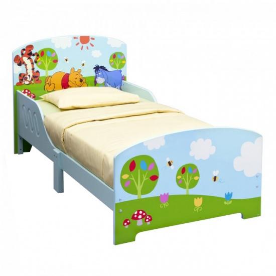 Disney Bed Winnie the Pooh 143 x 77 x 67 cm Lichtblauw/Groen