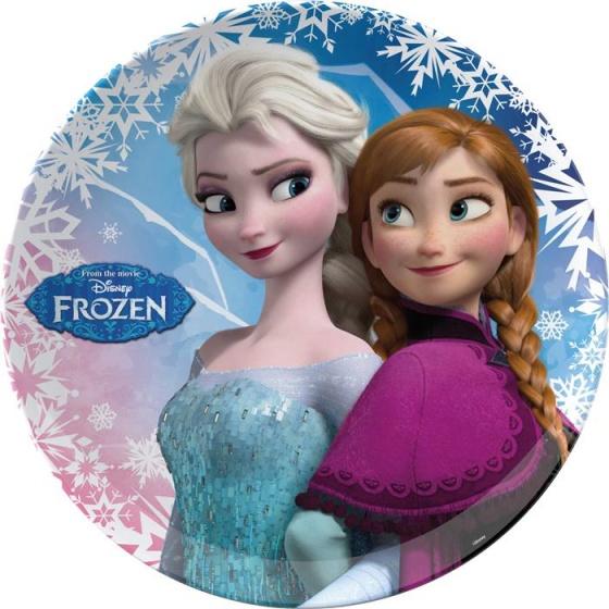 Frozen Melamine Bord Plat 22cm