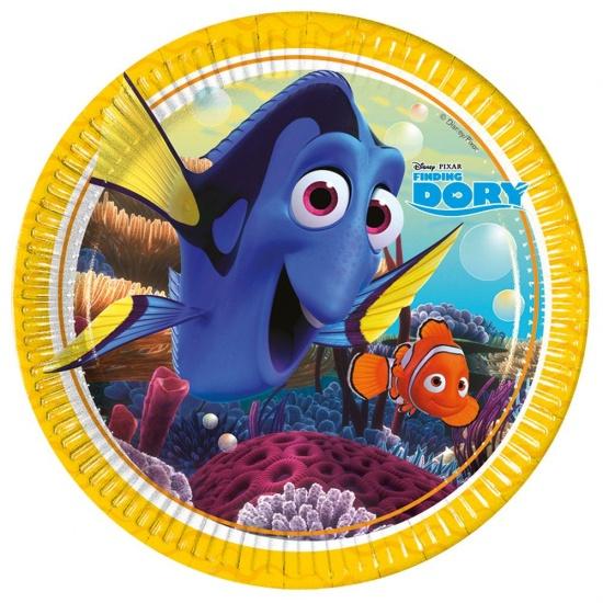 Disney bordjes Finding Dory 23 cm: 8 stuks