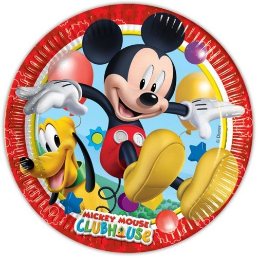 Disney Bordjes Mickey Mouse 23 cm 10 Stuks