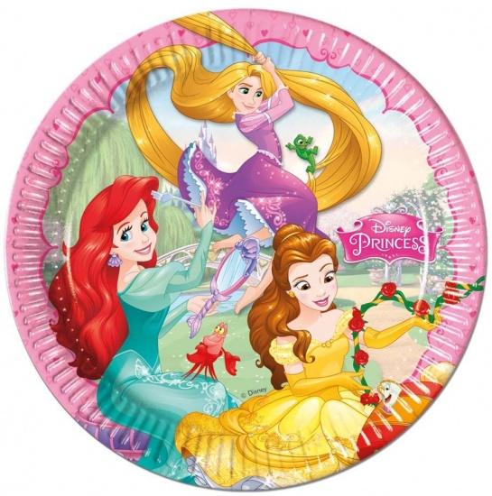Disney Bordjes Princess 23 cm: 8 stuks