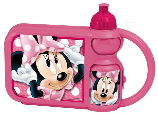 Disney Broodtrommel met beker Minnie Mouse roze