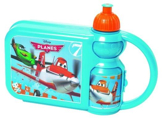 Disney Broodtrommel met beker Planes blauw/oranje