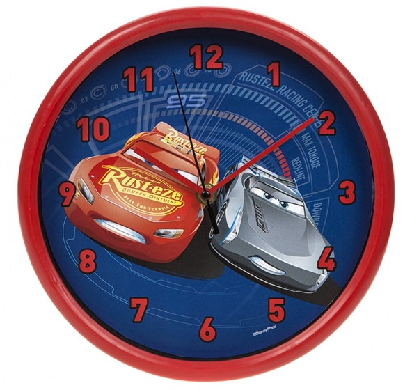 Disney Cars 3 wandklok 23 cm