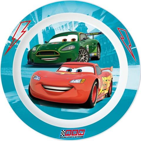 Disney Cars bord 22 cm blauw/wit