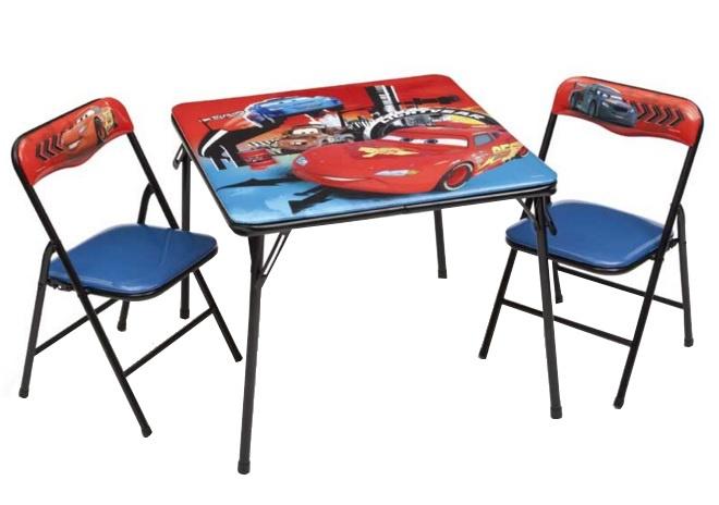 Disney Cars Inklapbare Tafel en Stoelen Set rood/blauw