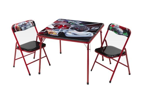 Disney Cars Inklapbare Tafel en Stoelen Set zwart/rood