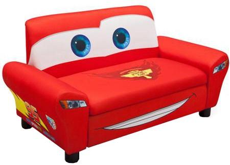 Disney Cars Kinderbank met opbergruimte rood 43 x 81 x 42 cm
