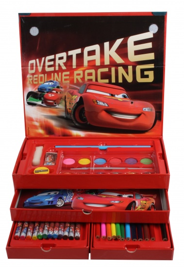 Disney Cars kleurset 50 delig rood 26 x 9.5 x 13 cm