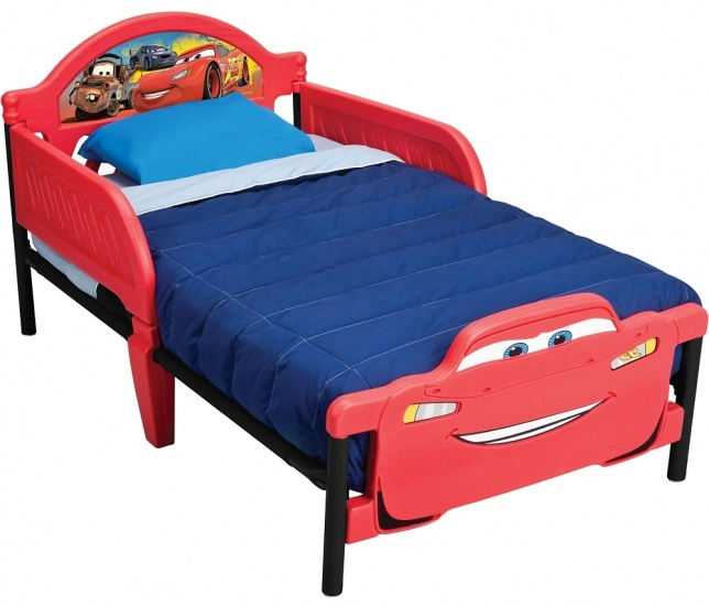 Disney Cars Kleuter Bed Staal Rood