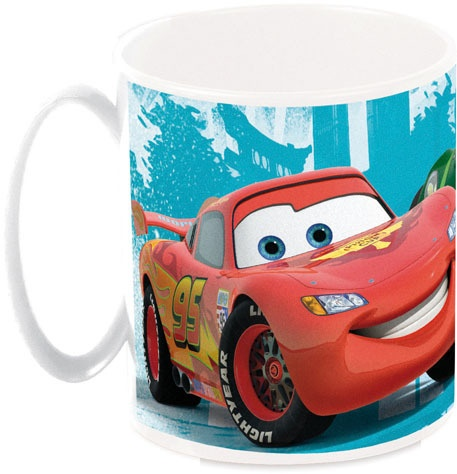 Disney Cars mok 350 ml blauw/wit/rood