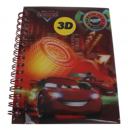 Disney Cars Notitieboekje A6 3D