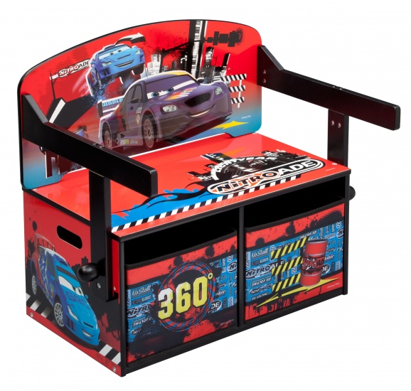 disney cars opbergbankje met bureau internet toys. Black Bedroom Furniture Sets. Home Design Ideas