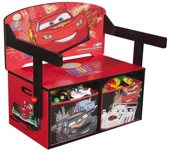 disney cars opbergbankje met bureau rood disney in de aanbieding kopen. Black Bedroom Furniture Sets. Home Design Ideas