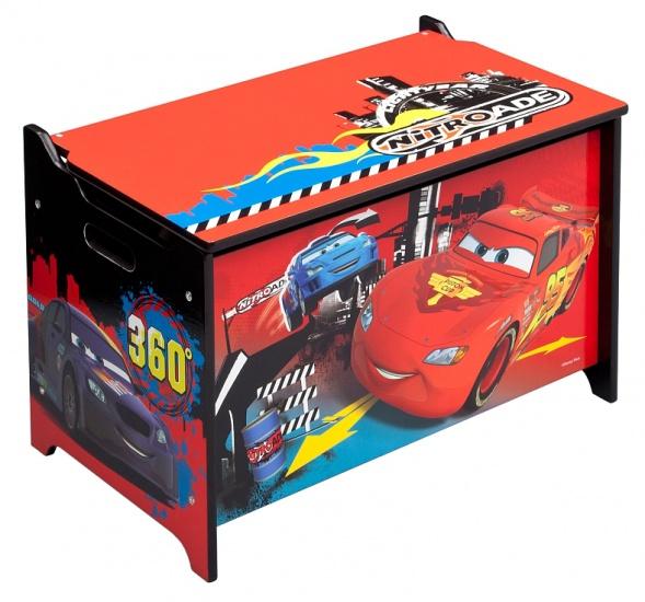 Disney Cars Speelgoed Opbergkist Zwart / Rood