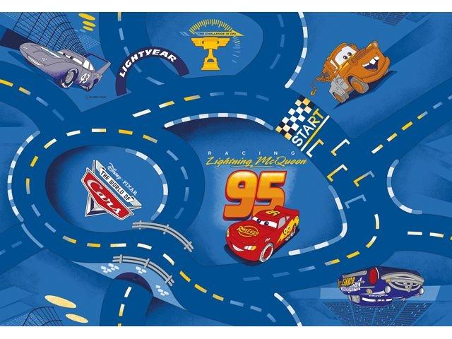 Disney Cars Speelmat / Verkeerskleed 95 X 133 cm Blauw