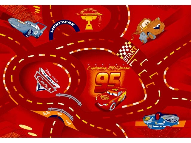 Disney Cars Speelkleed 95 X 133 cm Red