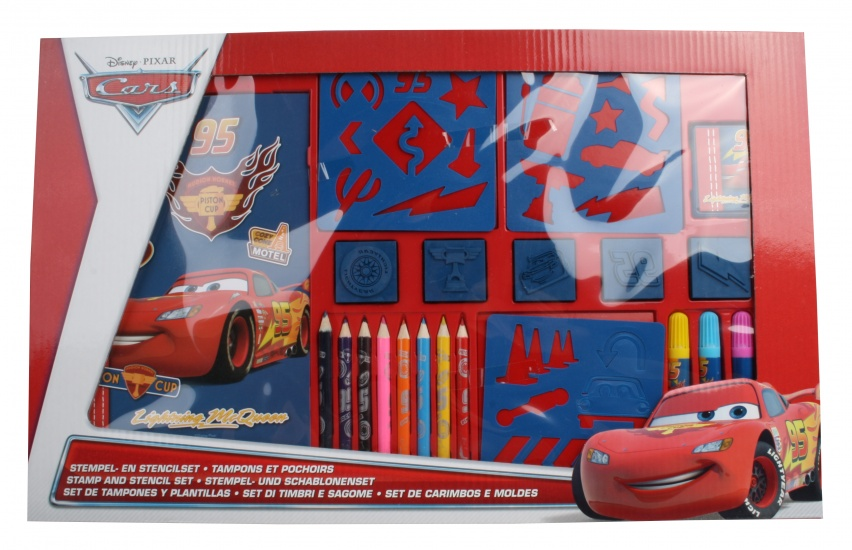 Disney Cars Stempel en kleurset 22 delig