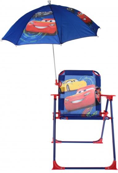 Disney Cars stoel met parasol 53 x 39 x 39 cm donkerblauw kopen