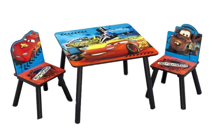Disney Cars Tafel en Stoelen Set blauw-rood