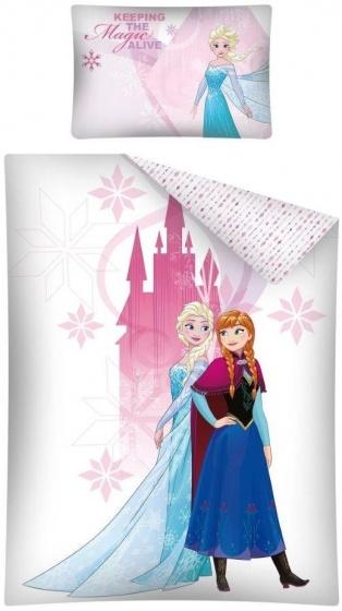 Disney dekbedovertrek Frozen 100 x 135 cm wit/roze