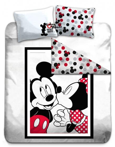 Disney Dekbedovertrek Mickey en Minnie 240 x 220 cm wit kopen