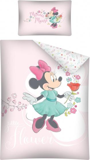 Disney dekbedovertrek Minnie Mouse bloemen 100 x 135 cm roze