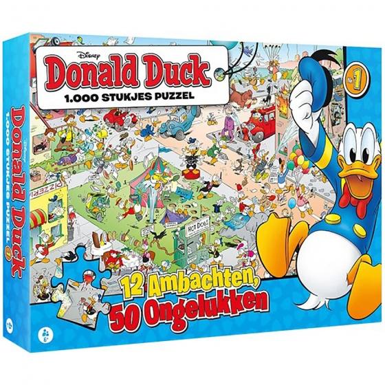 Disney Donald Duck puzzel12 Ambachten, 50 Ongelukken