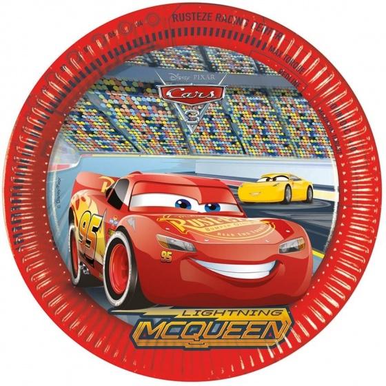 Disney Cars 3 bordjes - 8 stuks