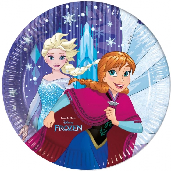 Disney feestborden Frozen 23 cm 8 stuks