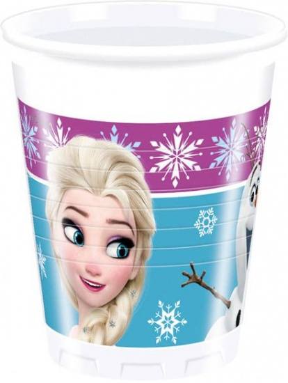 Disney Frozen Bekertjes lights 200 ml 8 stuks