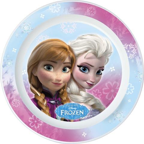 Disney Frozen bord 22 cm lichtblauw/roze