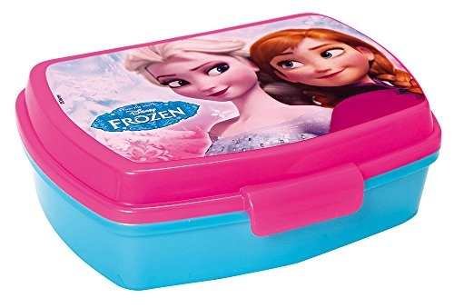 Disney Frozen broodtrommel 17,5 x 11,5 x 6 cm blauw/roze
