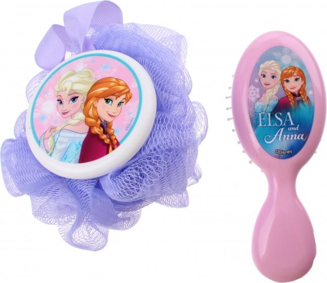 Disney Frozen cadeau set spons en borstel paars/roze Cadeau