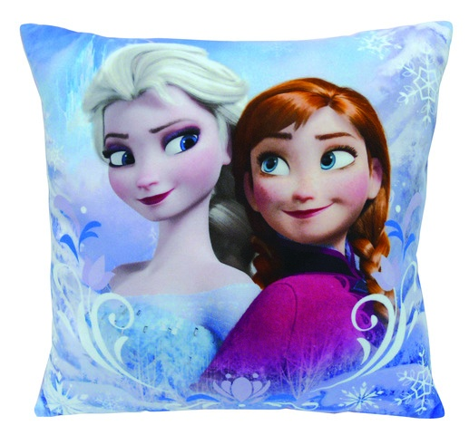 Disney Frozen Kussen Elsa en Anna blauw 34 x 34 x 11 cm