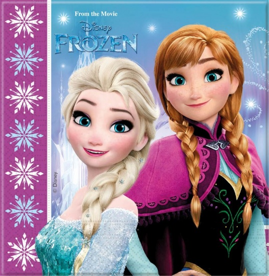 Disney Frozen lights servetten 33 x 33 cm 20 stuks