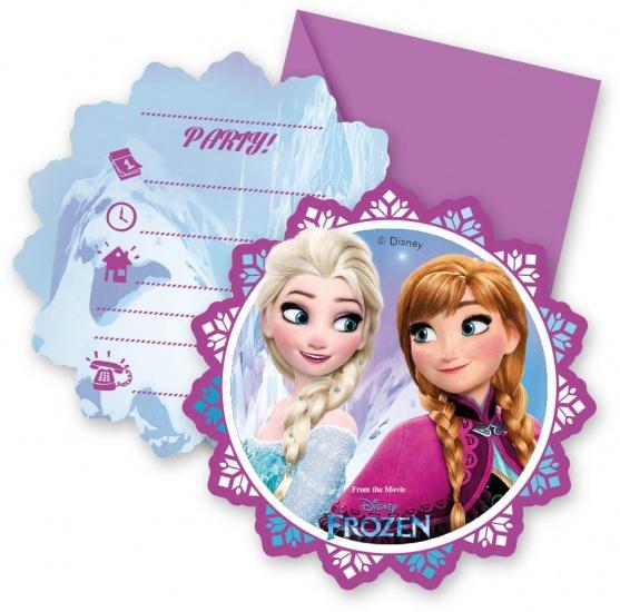 Disney Frozen lights Uitnodigingen 6 stuks