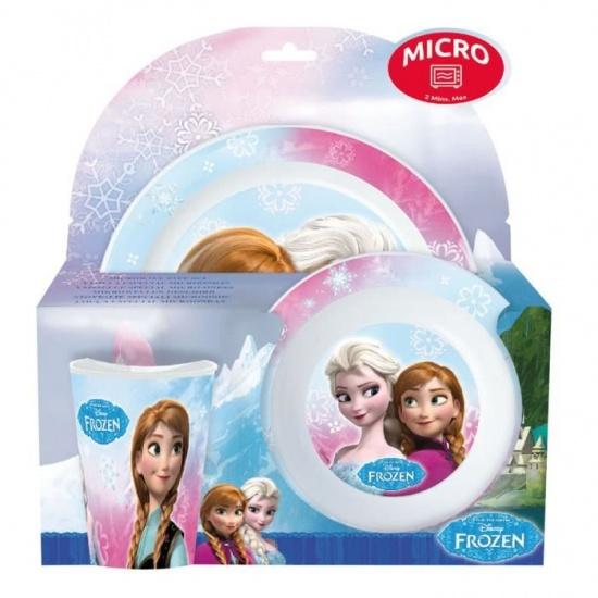 Disney Frozen magnetron eetset licthblauw/paars