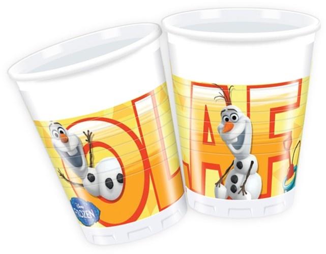 Disney Frozen Olaf Feestbekers 200ml 8 Stuks