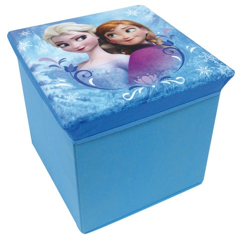 Disney Frozen Opbergmand/Kruk meisjes blauw 30 x 30 x 30 cm