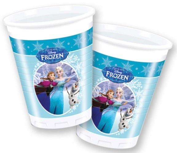 Disney Frozen Skating Feestbekers 200ml 8 Stuks