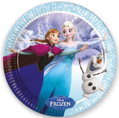 Disney Frozen Skating Feestborden 23cm 8 Stuks