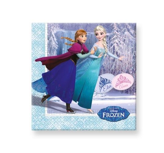 Disney Frozen Skating Servetten 33X33CM 20 Stuks